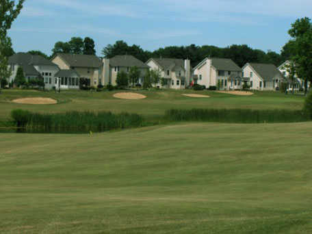 A view of green #13 at Delaware Golf Club