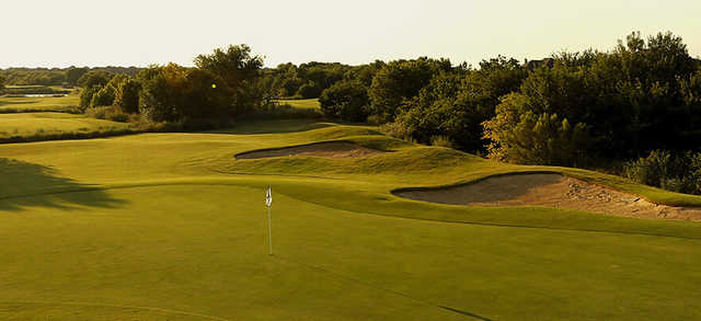 A view of a hole at The Trails of Frisco Golf Club.