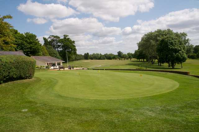 View of the puttin green at Southwick Park Golf Club