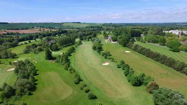 Aerial view from Southwick Park Golf Club