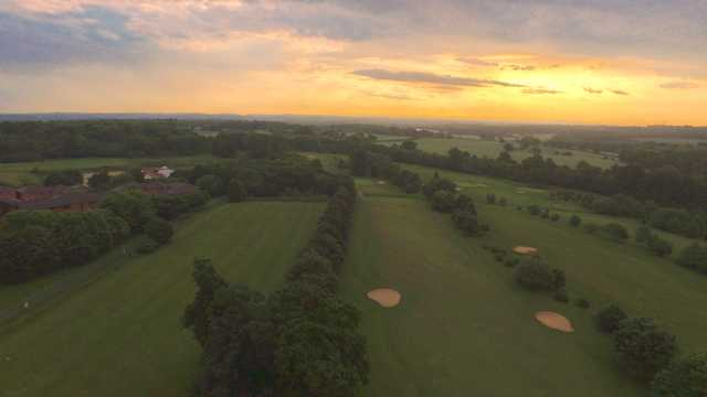 Sunset view from Southwick Park Golf Club