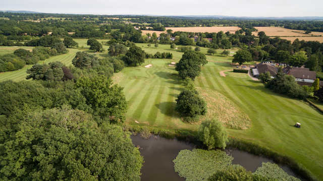 View of th 9th and 10th greens at Ifield Golf Club.