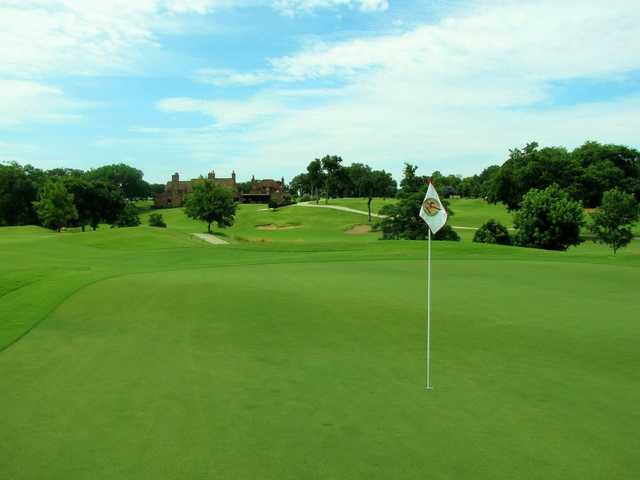 A view of the 6th hole at Hawks Creek Golf Club.