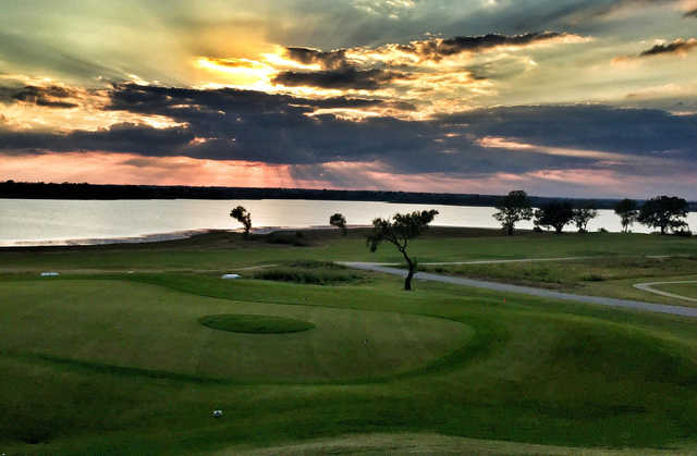A view of fairway #1 at Cleburne Golf Links.