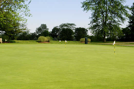 A view of the practice green at Bent Tree Golf Club