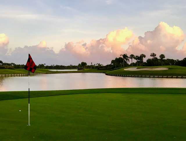 A view of the 13th hole at South from Hunters Run Golf Course.
