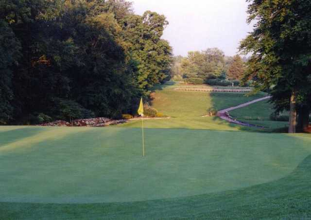 A view of the 11th green at Blackhawk Golf Club