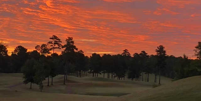 A sunrise view of hole #16 at Roquemore/Burton Course from Canongate Golf Club.
