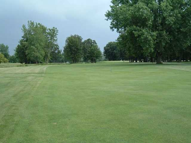 A view from fairway #4 at Foss Park Golf Course.