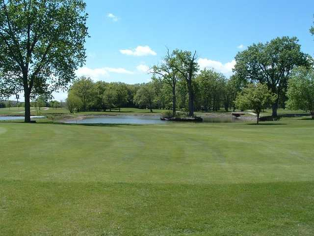 A view of the 15th hole at Foss Park Golf Course.