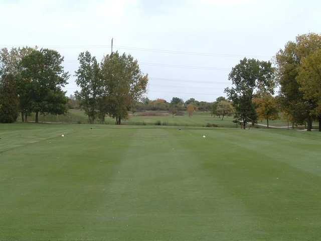 A view from tee #9 at Foss Park Golf Course.