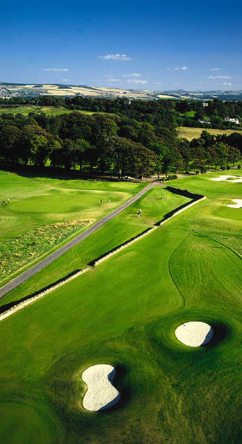 Aerial view from Kings Acre Golf Course and Academy