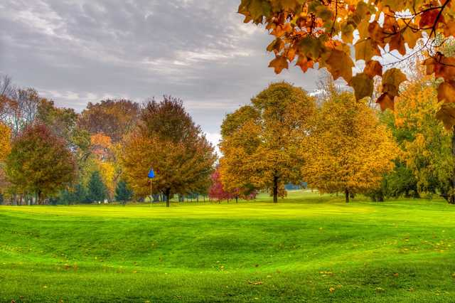 A view of green #15 at Beechwood Golf Course.