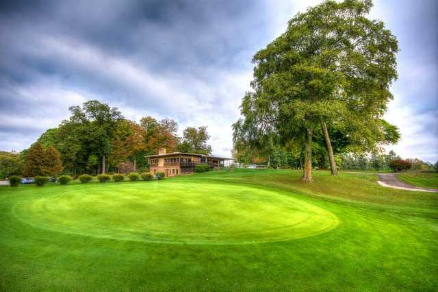 A view of the 9th hole at Beechwood Golf Course.