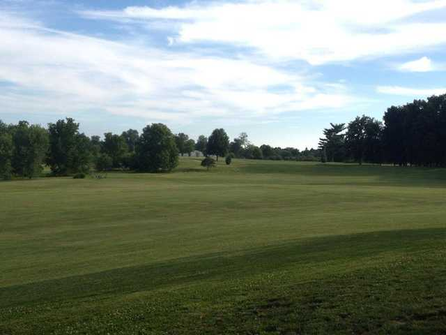 A view of a fairway at Cardinal Hills Golf Course.