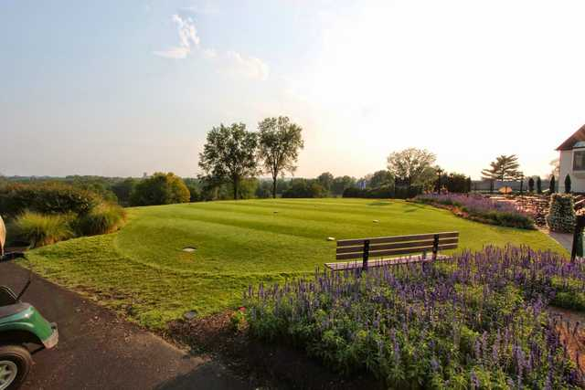 A view of a tee at Evansville Country Club.