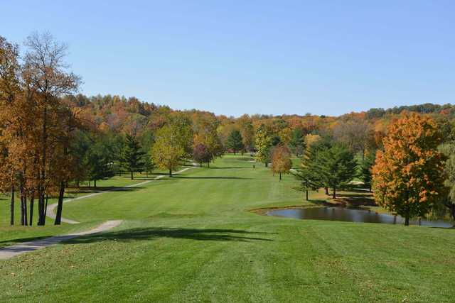 A view of a fairway at Foxcliff Golf Club.
