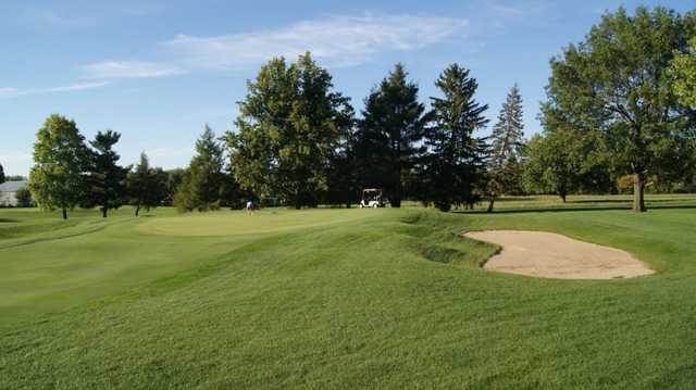 A view of a green at Killbuck Golf Course.