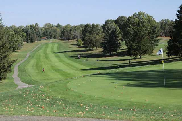 A view of a hole at Martinsville Golf Club.