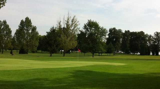 A view of a hole at Oak Grove Country Club.