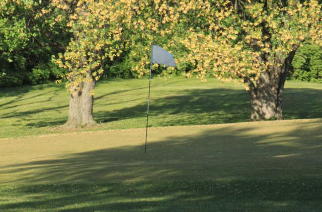 A view of a hole at Riverside Golf Course.