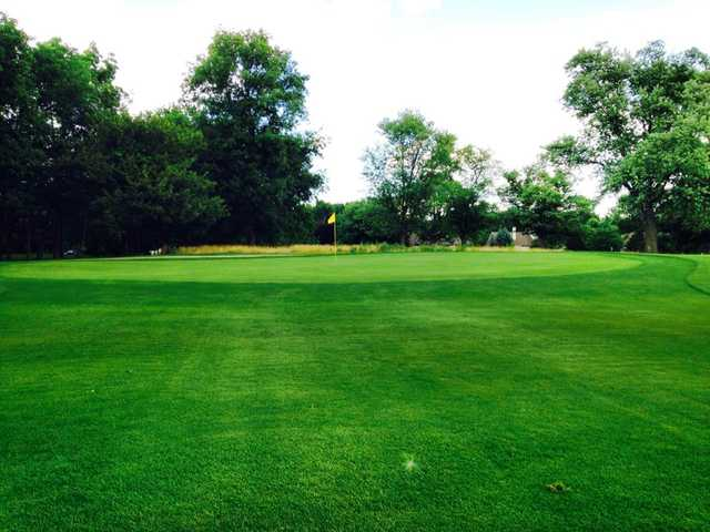 A view of the 14th hole at Twin Lakes Golf Club.
