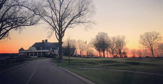 A sunset view from Kenwood Country Club.