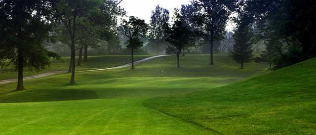A view of a hole at Neumann Golf Course.