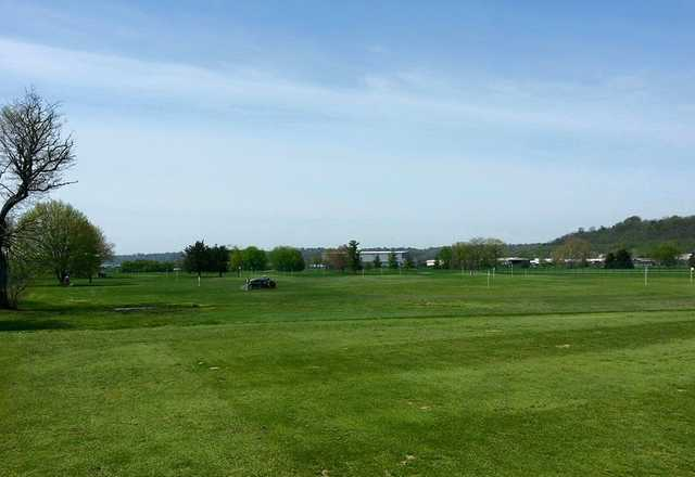 A view of the practice area at Reeves Golf Course.