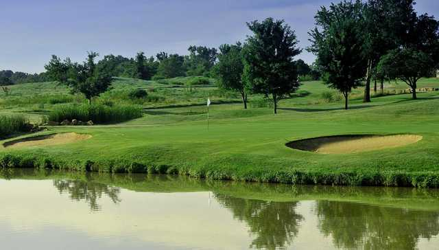 A view of a green at Mohawk Park Golf Course.