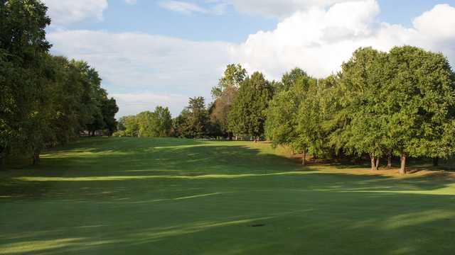 A view of a fairway at Kokomo Country Club.