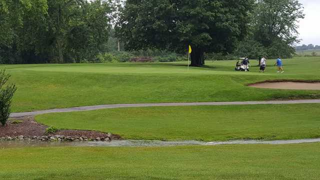 A view of a hole at South Shore Golf Club.
