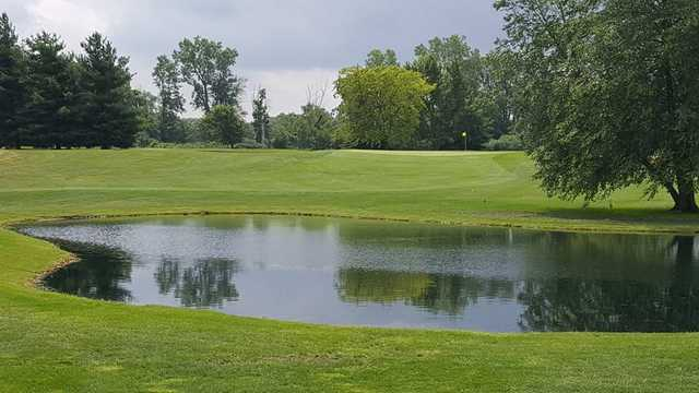 A view over a pond at South Shore Golf Club.