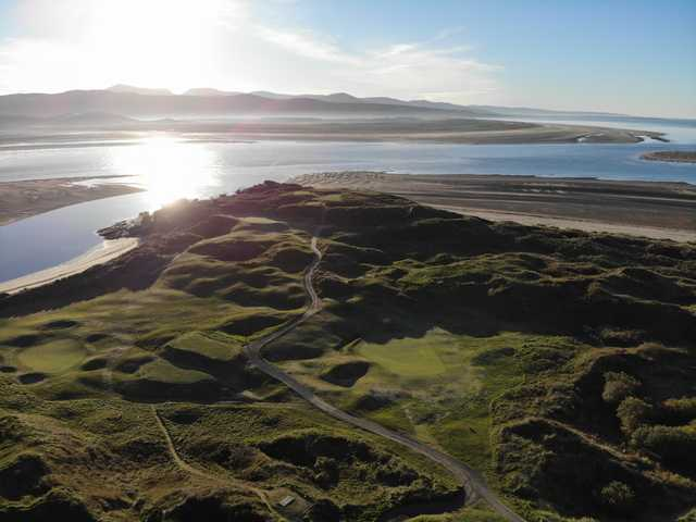 Aerial view from Porthmadog Golf Club