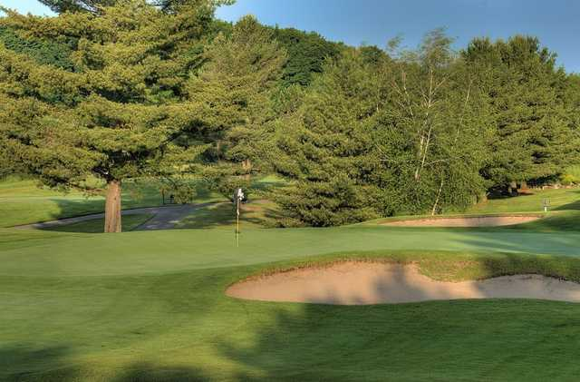 A view of the 4th green at Gaylord Golf Club.