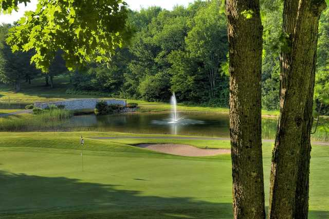 A view of green #8 at Gaylord Golf Club.