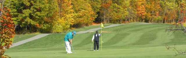 A view of a hole at Indian Springs Metropark Golf Course.
