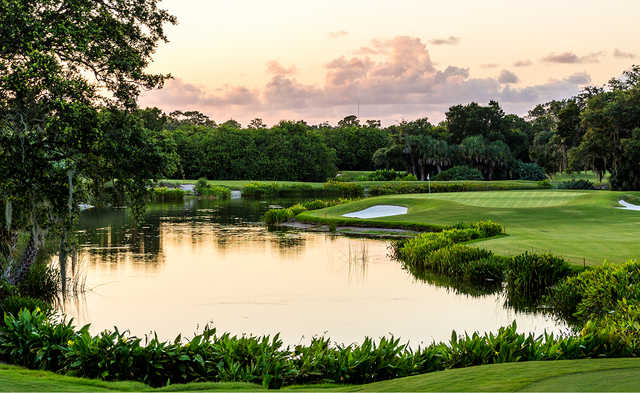 A view from a tee at Moorings Course.