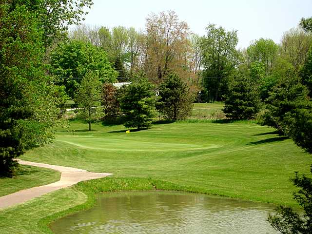 A view of the 12th green at Saint Albans Golf Club