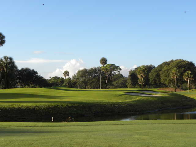 View of the 13th green at Jacksonville Beach Golf Club