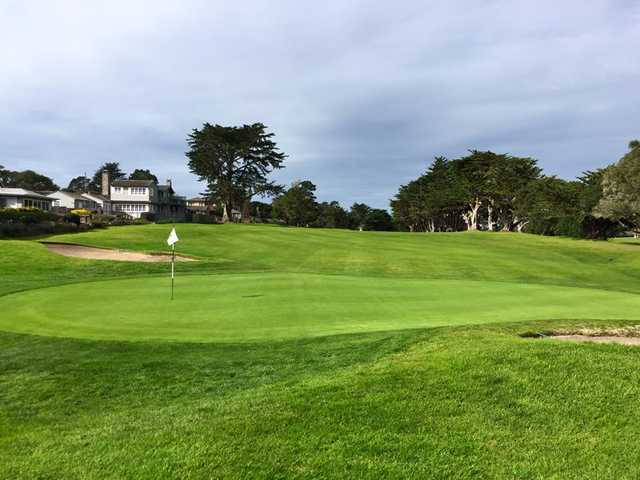 A view of hole #4 at Pacific Grove Golf Links.