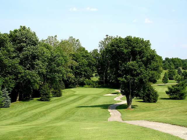 A view of green #17 at Saint Albans Golf Club