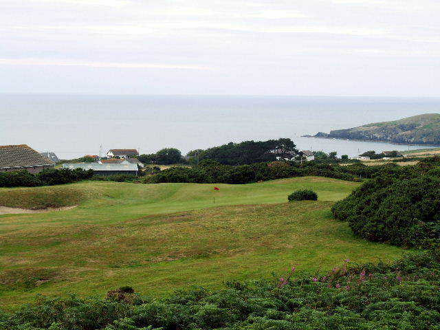 Cardigan Golf Club plays high above the sea and is more wide open than some other Wales links. (Brandon Tucker)