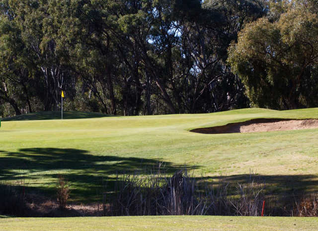 A view of a hole at Deniliquin Golf Club.