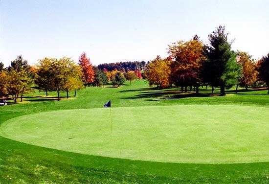 A fall view from Pine Hill Golf Course