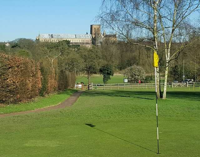 View from a green at Abbey View Golf Course