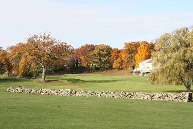 A fall day view from Louisquisset Golf Club.