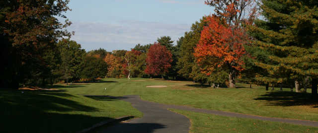 A sunny day view of a fairway at  Oak Ridge Golf Club .