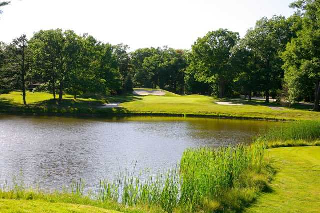 A view over the water from East Course at The Inn At Pocono Manor.