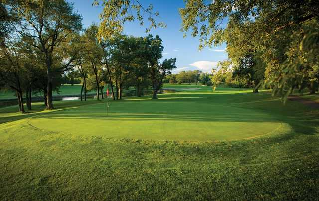 A view of a green at Red from Coachman's Golf Resort.